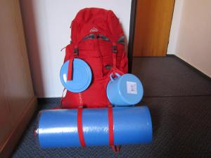 Roll mat on the Camino