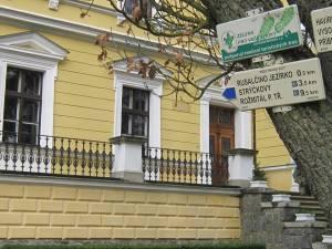Camino signs at Dvorak museum