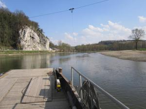 River boat to cross over to visit Kloster Weltenburg