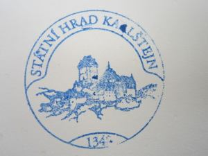 Karlstejn Pilgrim stamp