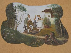 Bavarian painting on house