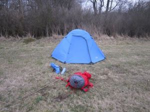 Tenting on the Camino Santiago