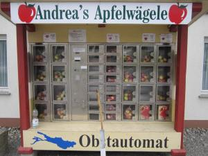 Apple vending machine in Oberschwaben, southern Germany