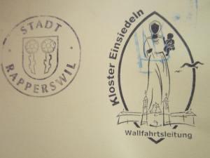 Lovely stamp in my Pilgrim Passport from the monastery.