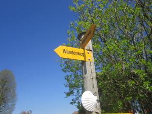 Jakobsweg Camino signs Switzerland