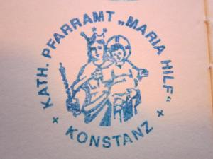 The Konstanz stamp in my Pilgrim's Passport.