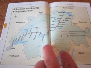 Schweizer Jakobsweg Etappenubersicht