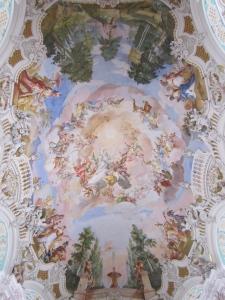 Baroque art at Steinhausen church
