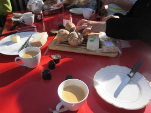 Breakfast on the Swiss Jakobsweg