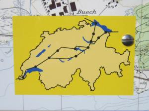 This is the Camino route through Switzerland. Soon there will be a fork in the path and I'll need to choose whether to continue onwards through Interlaken and Thun, or whether to go via Luzern and Bern.