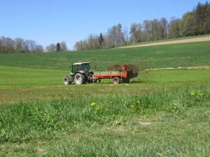 Swiss manure on fields