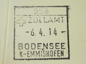 Yesterday morning I crossed the border into Switzerland and got a border stamp in my Pilgrim Passport.