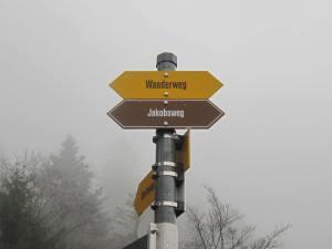 Wanderweg in Switzerland Jakobsweg