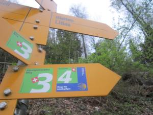 The route from Luzern continues along the Camino trail and is very well signposted.