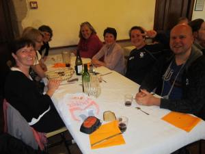 Pilgrim dinner at Conques