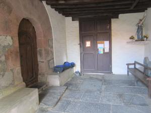 Sleeping-at-Gamarthe-church