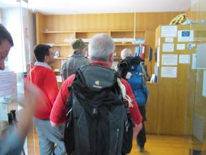 Checking-into-Pamplona-Albergue
