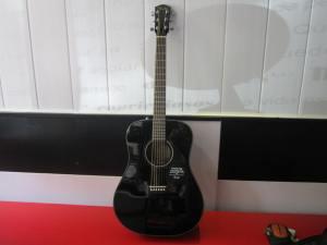 Fender Guitar on the Camino de Santiago
