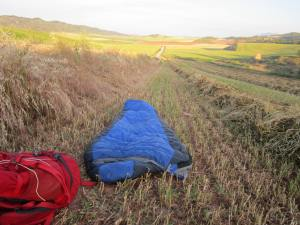 Sleeping outside on the Camino de Santiago
