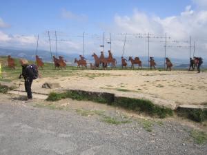 Pilgrim statues near Pamplona