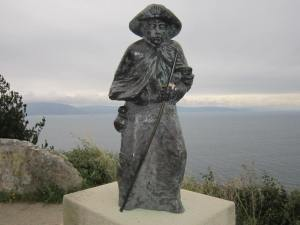 stone pilgrim at Finisterre