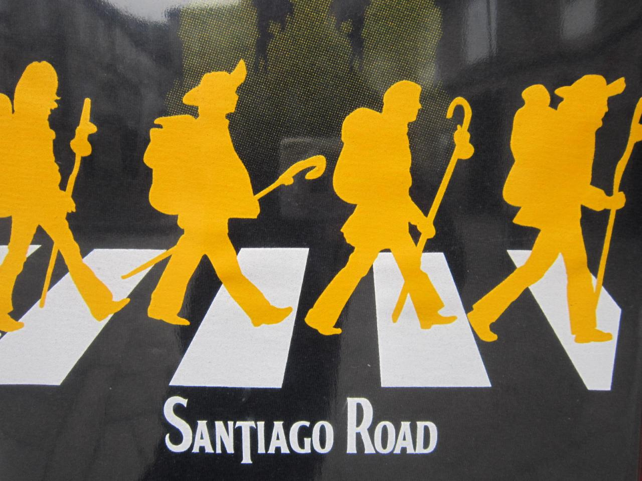 The Fab Four set off from London's Abbey Road studios to reach the tomb of Saint James in Santiago de Compostela