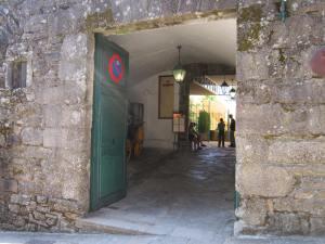 Corallon gate at the hotel Parador in Santiago