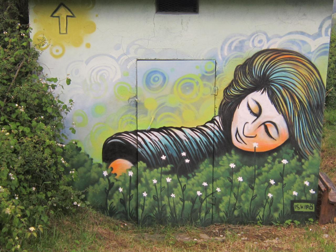 Camino art on the way between Zubiri and Pamplona (Camino Frances/FrenchWay)