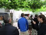 Receiving the Compostela in Santiago