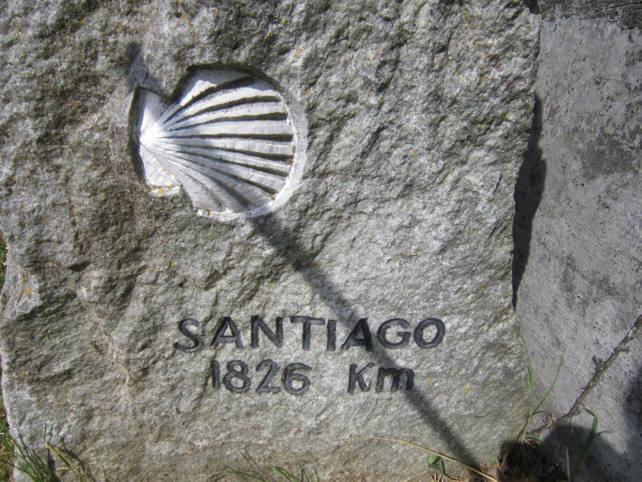 Distance to Santiago on the Geneva Way