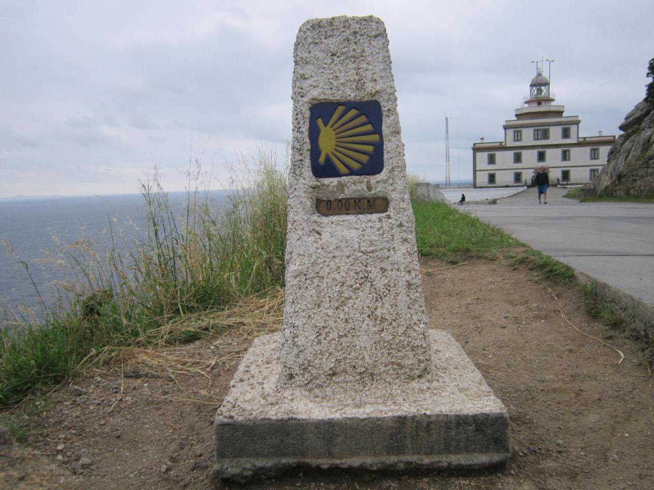0,00km marker at Finisterre