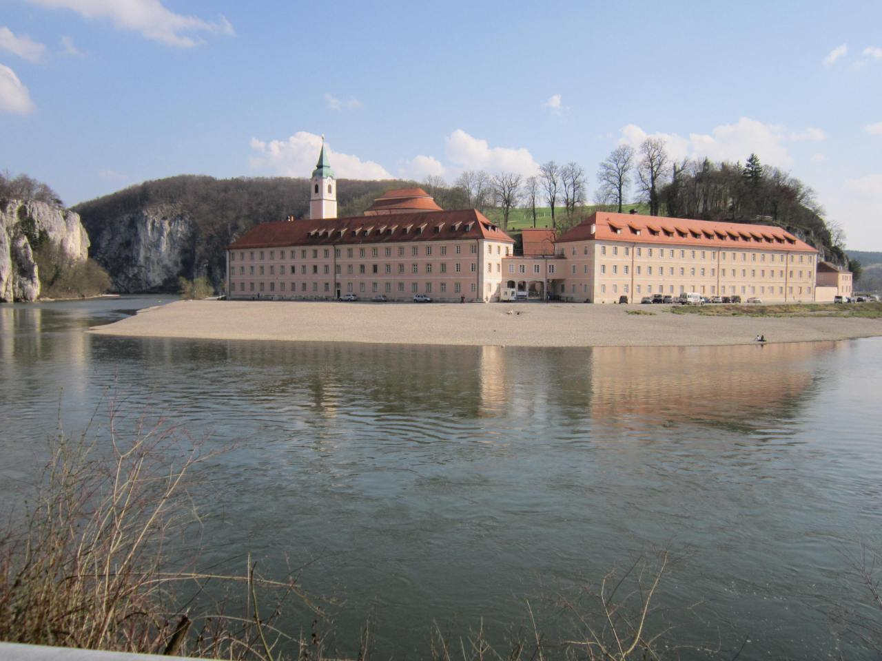 Weltenburg abbey on the Jakobsweg in southern Germany