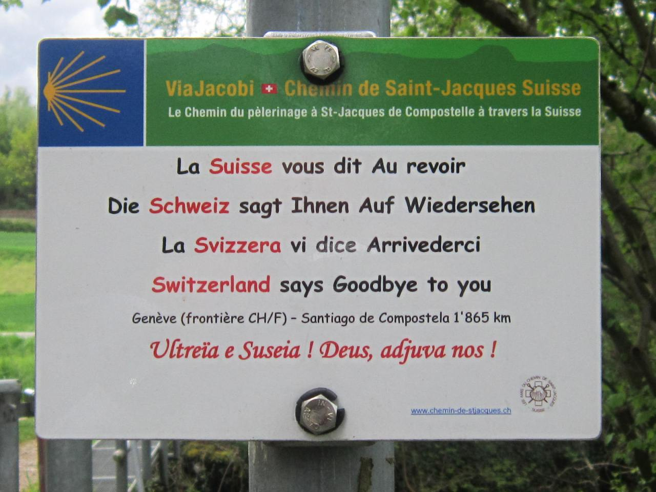 Leaving the Jakobsweg Suisse and beginning the Geneva Way (ViaGebennensis)