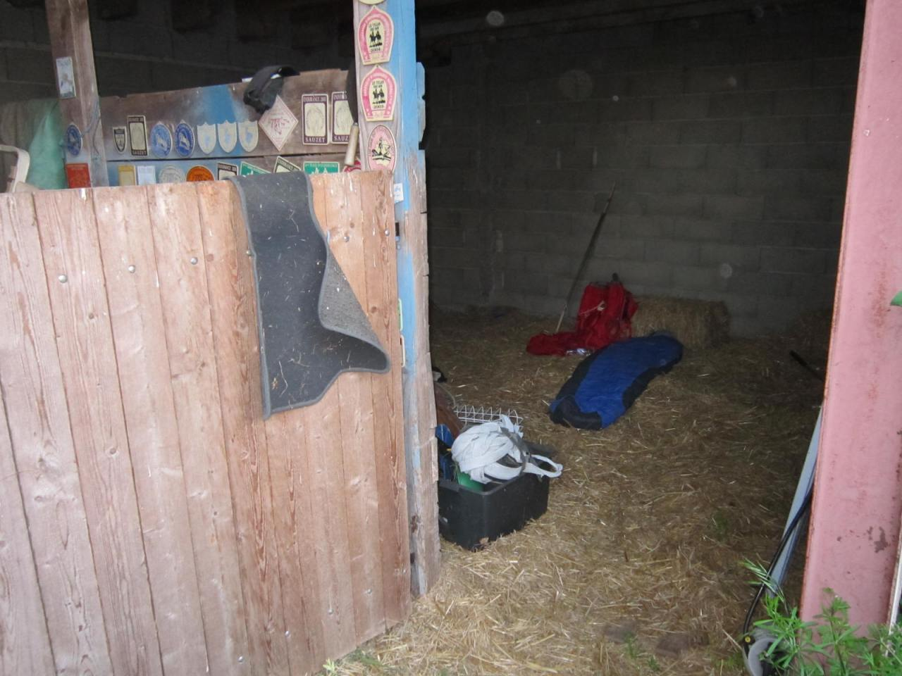 Sleeping in a barn on Le Chemin de St. Jacques in southern France