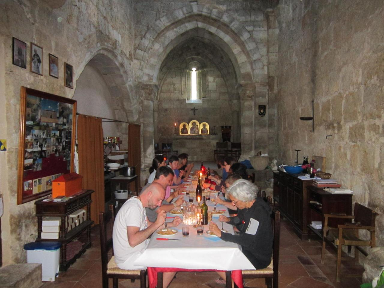 (1) Evening meal at the Ermita de San Nicolas on the Camino Frances/FrenchWay