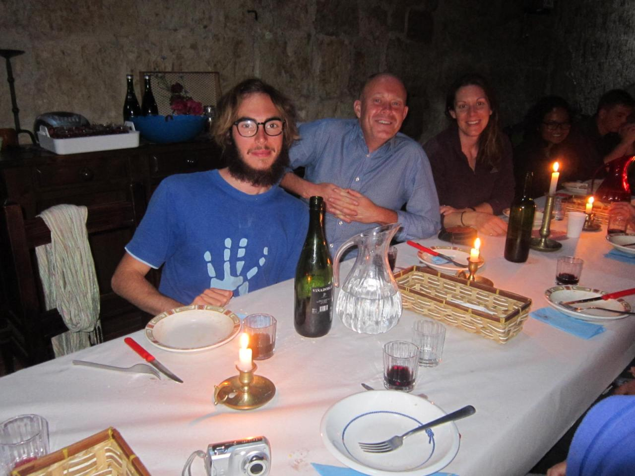 Evening meal at the Ermita de San Nicolas on the Camino Frances/French Way