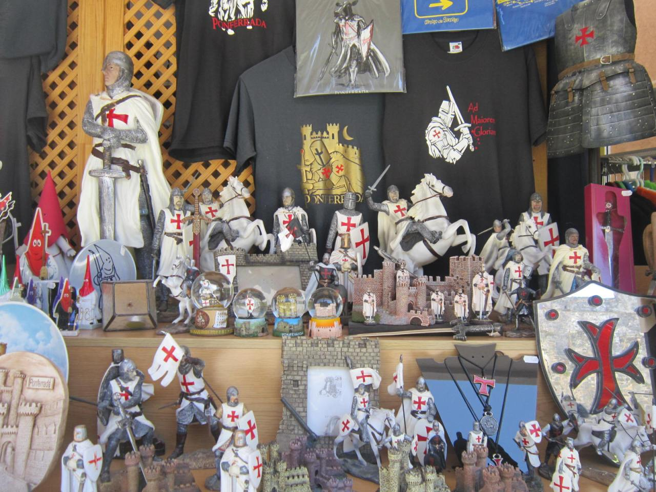Knights Templar for sale in Ponferrada (on the Camino Frances/FrenchWay)
